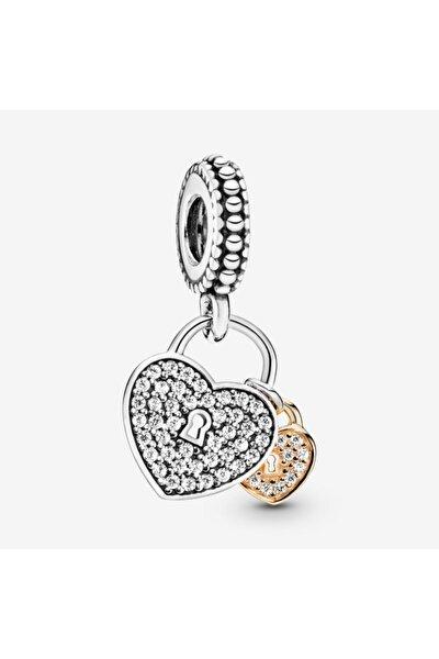 Asma Kilit Sallantılı Gümüş Charm