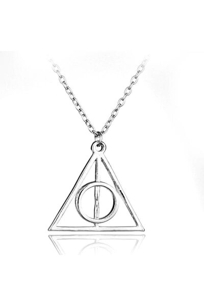 Kolye Gümüş Harry Potter Ölüm Yadigarları Üçgen
