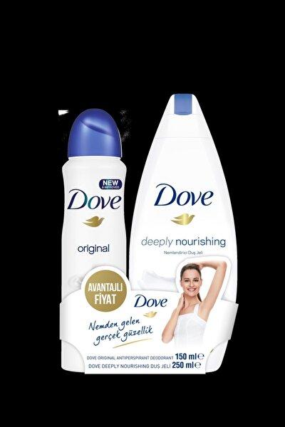 Deodorant Original 150 ml + Dove Deeply Nourishing Duş Jeli  250 ml