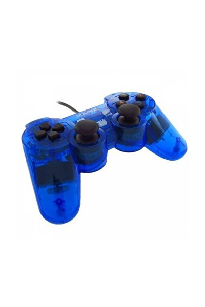 GLARE Gp809 Şeffaf Titreşimli PC Oyun Kolu Gamepad Mavi