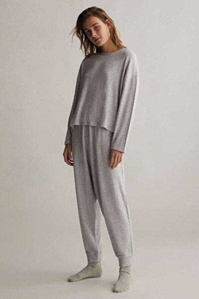 Kadın Gri Comfort Feel Harem Pantolon
