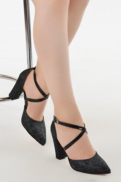 Tier 13600 Kum Simli 8 Cm Topuk Kadın Ayakkabı