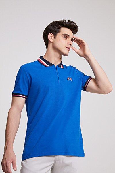 Regular Fit Saks Mavi T-shirt