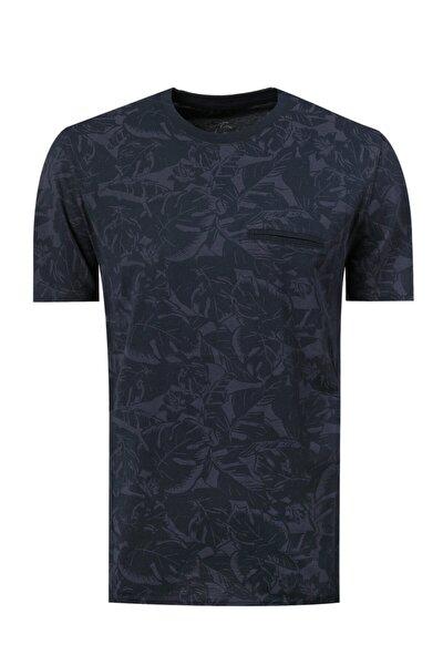 Twn Slim Fit Lacivert T-shirt