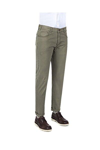 Slim Fit Haki Düz Chino Pantolon