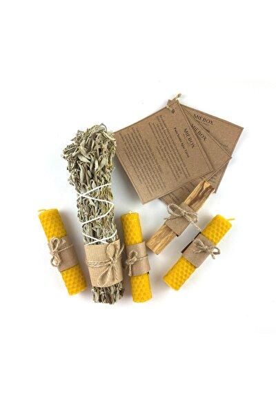 Arınma Seti (Palo Santo Tütsü + Balmumu Mum + Adaçayı Tütsüsü)