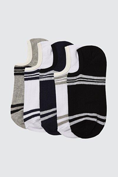 Çok Renkli Erkek 5'li Paket Çorap TMNSS20CO0040