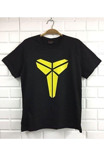 Unisex Siyah Kobe Bryant Baskılı T-shirt