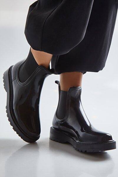 Kadın Siyah Yağmur Botu Wrblck02s