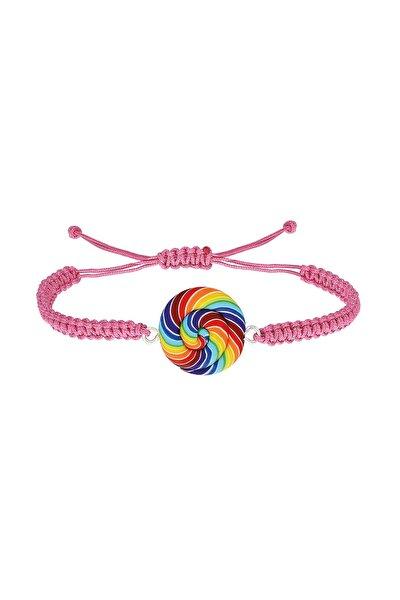 Kız Çocuk Pembe Bileklik Rainbow Lolipop