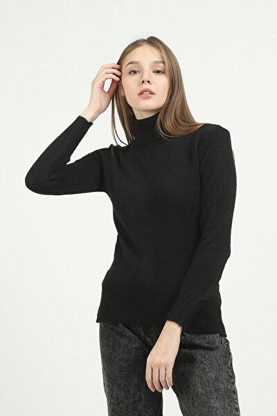 Kadın Siyah Kazak
