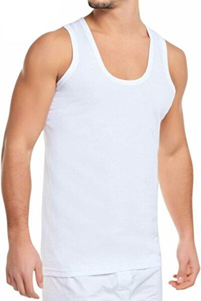 6'lı Paket (mevsim) Erkek Penye Atlet Beyaz (34301)