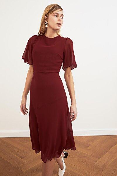 Bordo Basic Şifon  Elbise TWOSS20EL0908