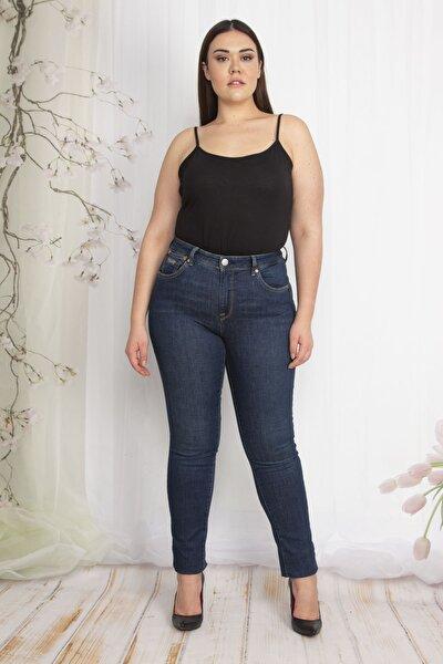Kadın Lacivert 5 Cepli Slim Fit Kot Pantolon 65N22292