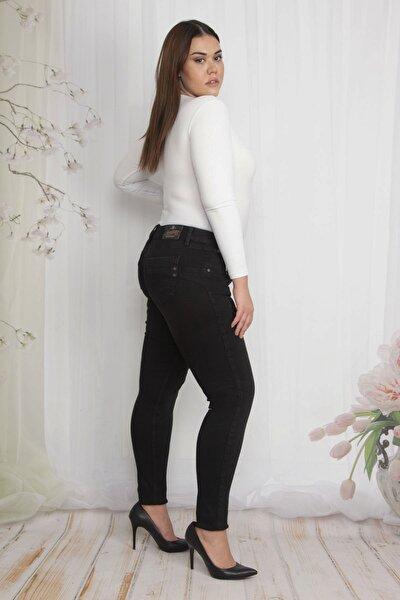 Kadın Siyah 5 Cepli Slim Fit Kot Pantolon 65N22294