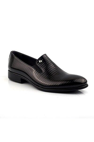 Erkek Siyah Rugan Ayakkabı