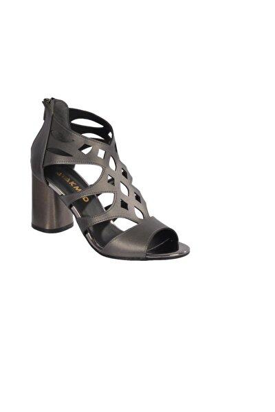 9837 Platin Kadın Topuklu Ayakkabı