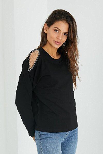 Kadın Siyah Cora Sweatshirt