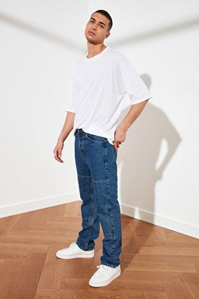 Lacivert Erkek Straight Fit Jeans TMNSS21JE0048