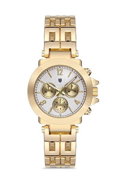 Altın Renk Kadın Kol Saati / Stil Top Series