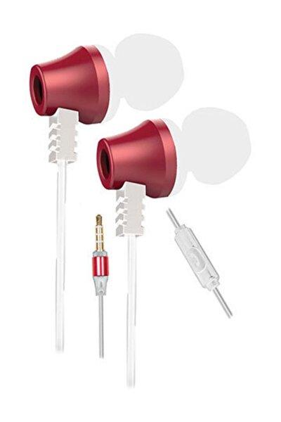 Sn-j02 Thunderbird Mobil Telefon Uyumlu Taşıma Çantalı Kulak Içi Beyaz/pembe Mikrofonlu Kulaklık