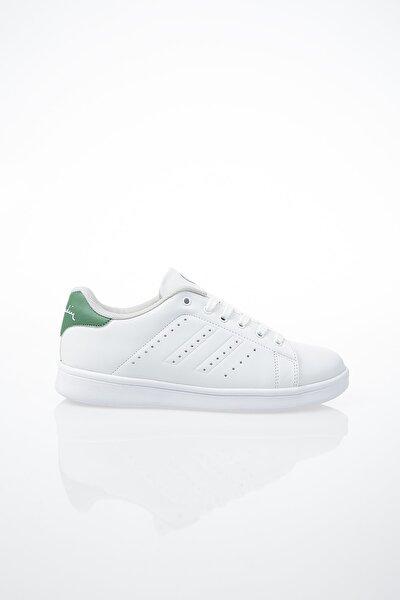Kadın Günlük Spor Ayakkabı-Beyaz-Yeşil PCS-10144