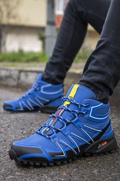 Erkek Mavi Kışlık Ayakkabı Bot
