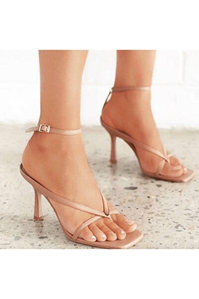 Kadın  Jen Topuklu Sandalet Nude