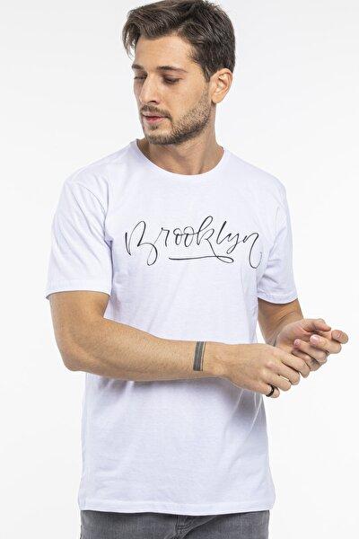 Brooklyn El Yazı Baskılı Tshirt