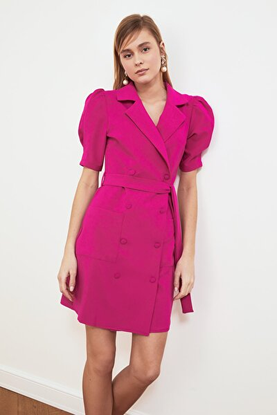Fuşya Kuşaklı Ceket Elbise TWOSS20EL0236