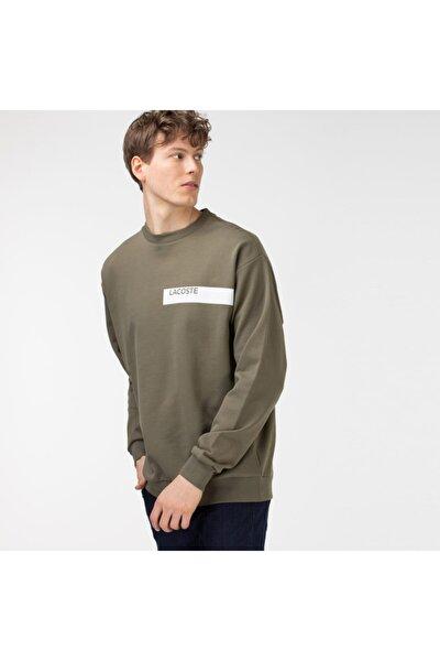 Erkek Baskılı Haki Sweatshirt