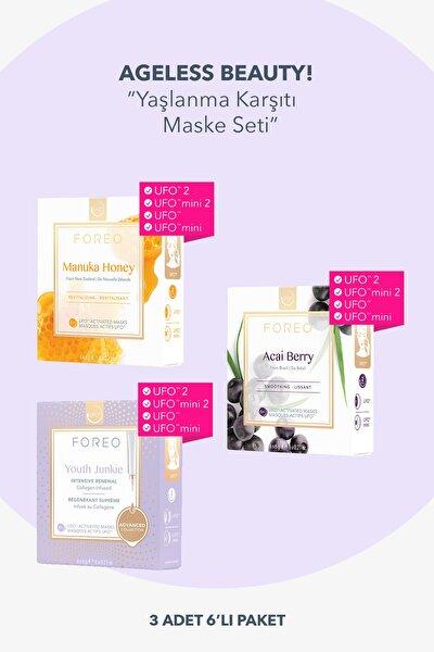 Ufo™ Ageless Beauty Maske Seti - 3x6 Adet Aktif Maske