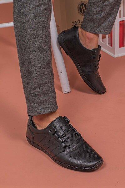 Erkek Hakiki Deri Topuk Jelli Çarık Ayakkabısı