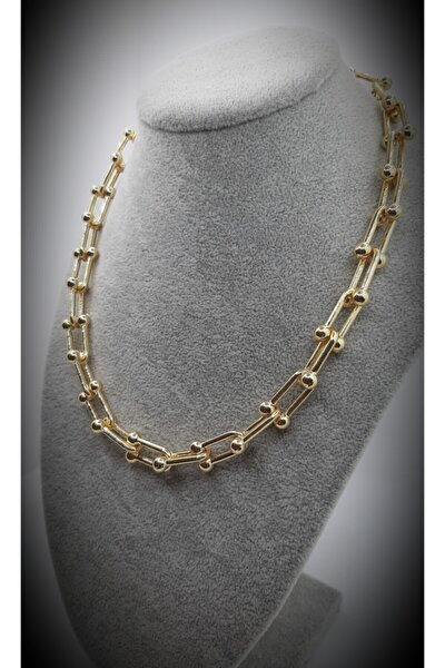 Gold Kısa Tiffany Kolye