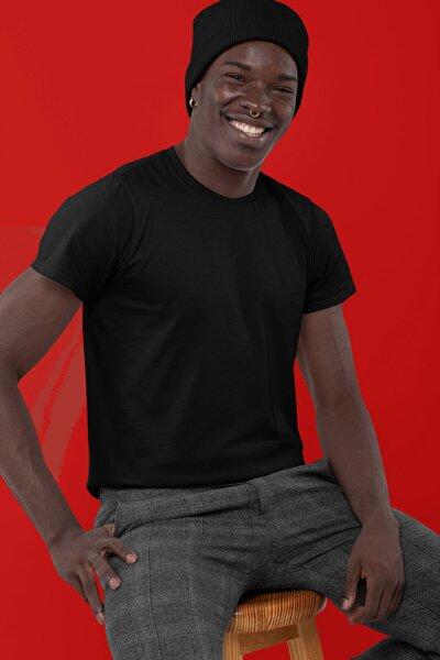 Erkek Siyah Basic T-shirt 001