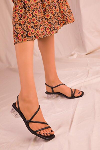Siyah Kadın Klasik Topuklu Ayakkabı 15822