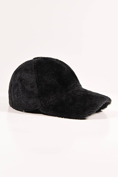 13590 Siyah Peluş Kep