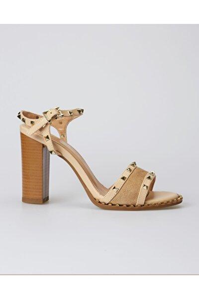 Kadın Bej Mood Topuklu Ayakkabı