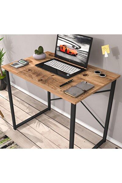 Mira Metal Çalışma Masası Bilgisayar Laptop Masası Atlantikçam-siyah