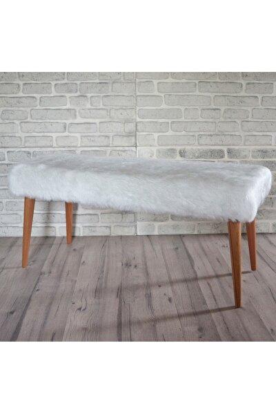 Regina 100cm Beyaz Peluş M Bench