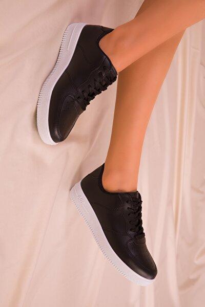 Siyah-Beyaz Kadın Sneaker 14361