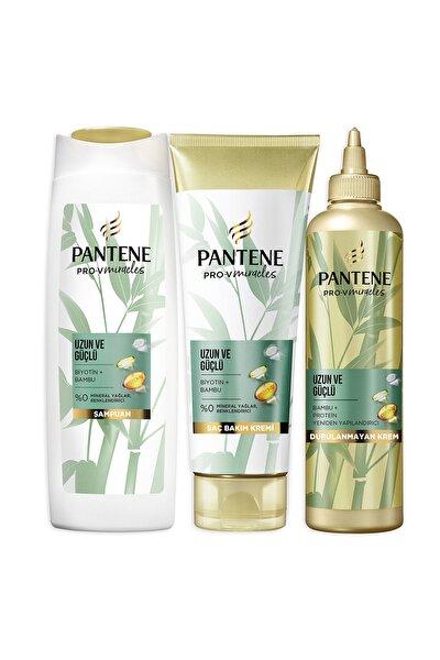 Uzun ve Güçlü Bambu ve Biotin Saç Bakım Şampuanı 400 ml+Şekillendirici Krem 275 ml+Maske 270 ml
