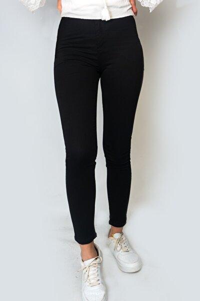 Kadın Siyah Likralı Skinny Yüksek Bel Jean 5800701