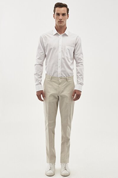 Erkek Taş Slim Fit Desenli Pantolon