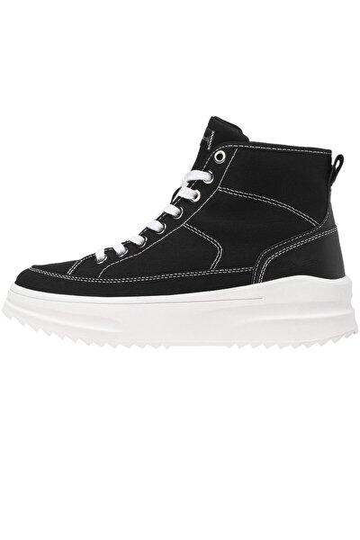 Kadın Siyah Kumaş Bilekli Spor Ayakkabı 19005770