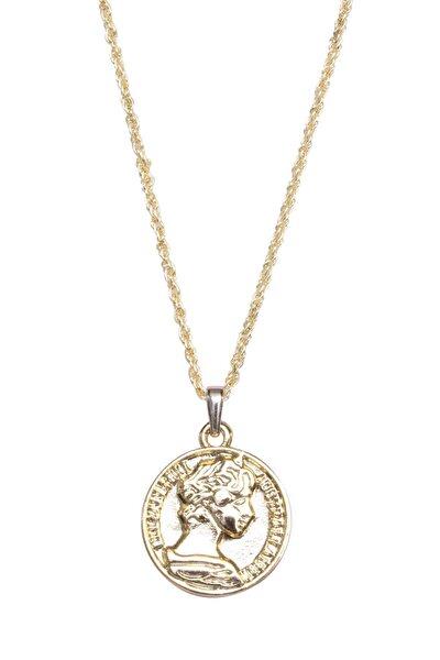 Kadın Altın Meri Madalyon Kolye