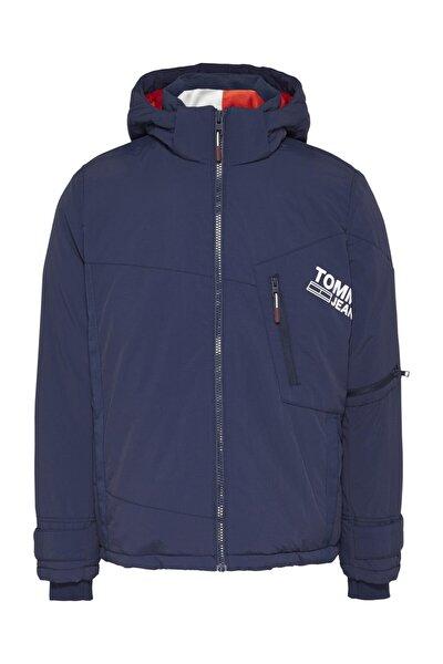 Erkek Mavi Yağmurluk&Rüzgarlık Tjm Solıd Graphıc Jacket DM0DM08761