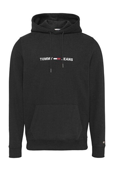 Erkek Siyah Sweatshirt Tjm Straıght Logo Hoodıe DM0DM08474