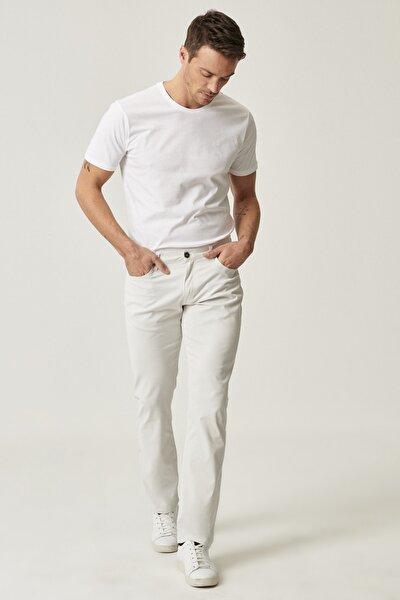 Erkek Taş Regular Fit Desenli Pantolon