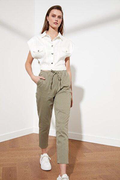 Haki Çizgili Pantolon TWOSS21PL0324